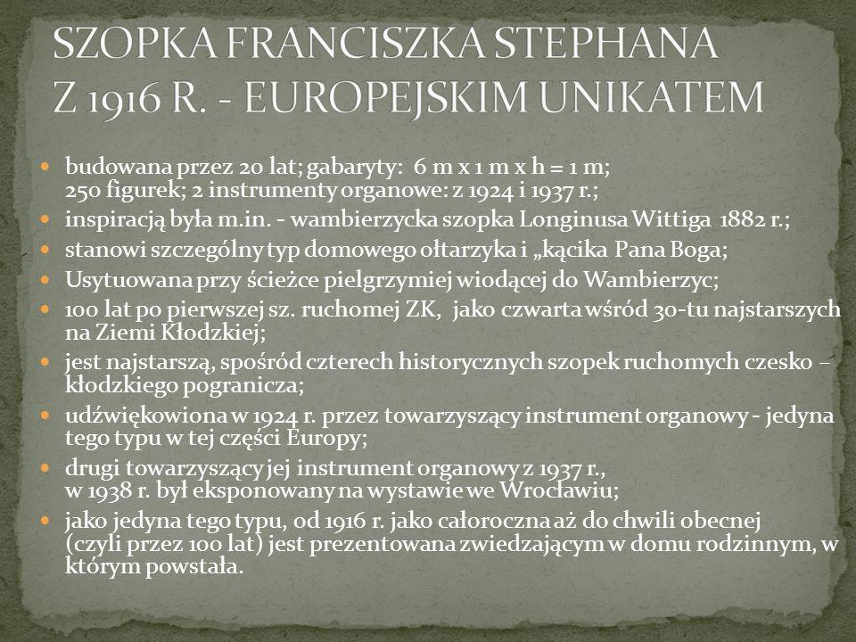 SZOPKA FRANCISZKA STEPHANA Z 1916 R. - EUROPEJSKIM UNIKATEM