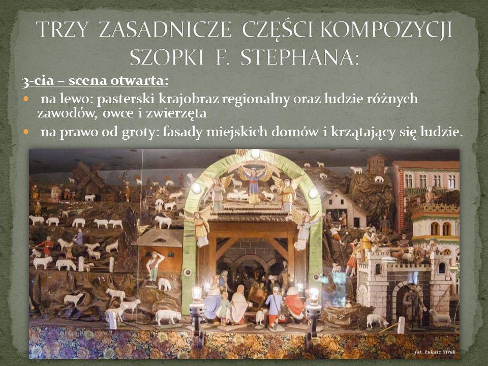 TRZY ZASADNICZE CZĘŚCI KOMPOZYCJI SZOPKI F. STEPHANA: