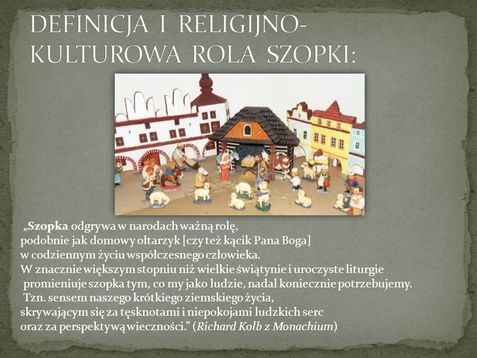 DEFINICJA I RELIGIJNO-KULTUROWA ROLA SZOPKI: