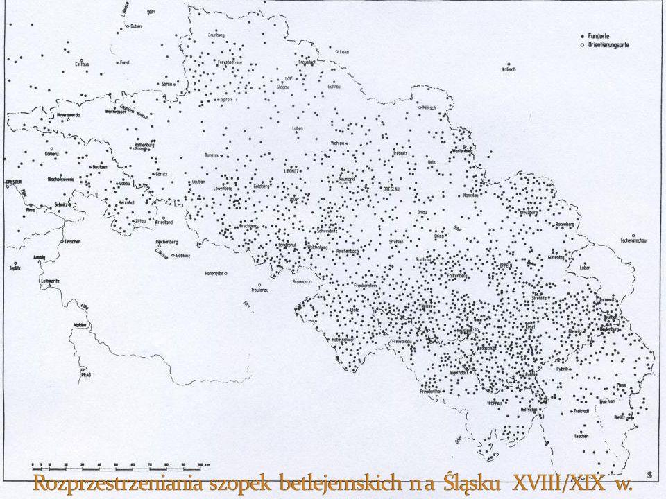 Rozprzestrzeniania szopek betlejemskich n a Śląsku XVIII/XIX w.