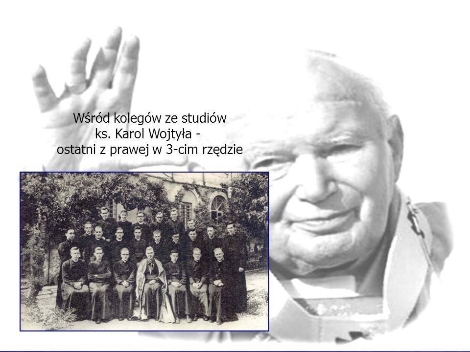 Wśród kolegów ze studiów ks. Karol Wojtyła -