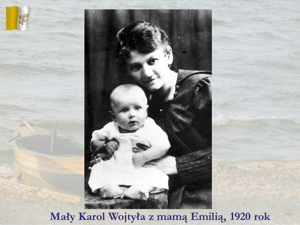 Mały Karol Wojtyła z mamą Emilią, 1920 rok