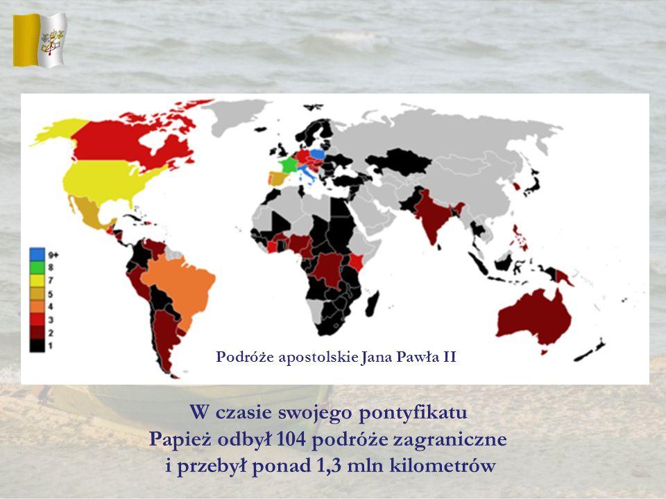 W czasie swojego pontyfikatu Papież odbył 104 podróże zagraniczne
