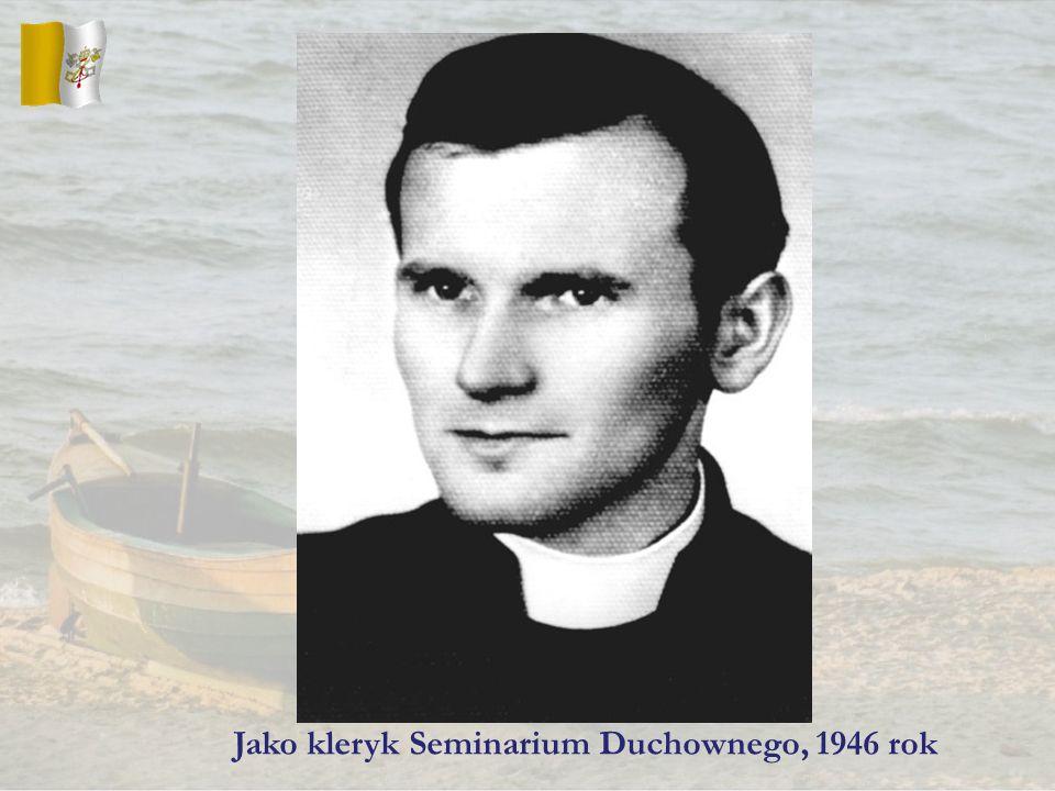 Jako kleryk Seminarium Duchownego, 1946 rok