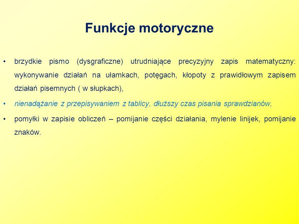 Funkcje motoryczne