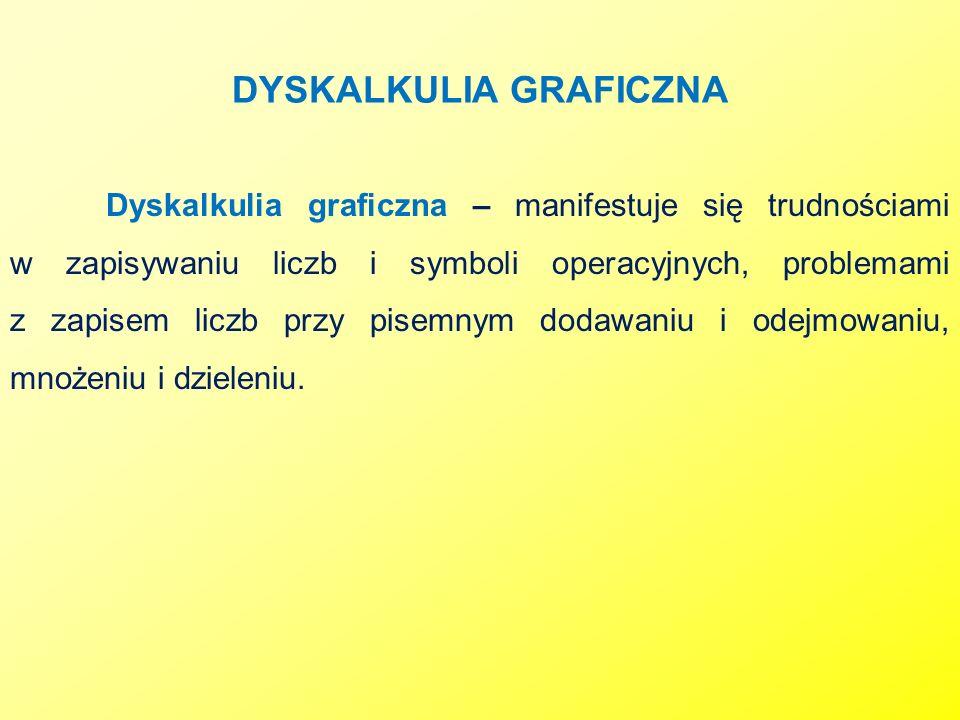 DYSKALKULIA GRAFICZNA