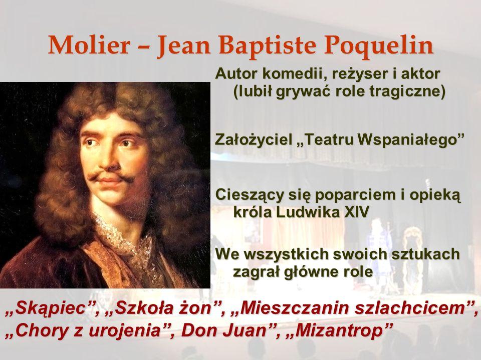 Molier – Jean Baptiste Poquelin