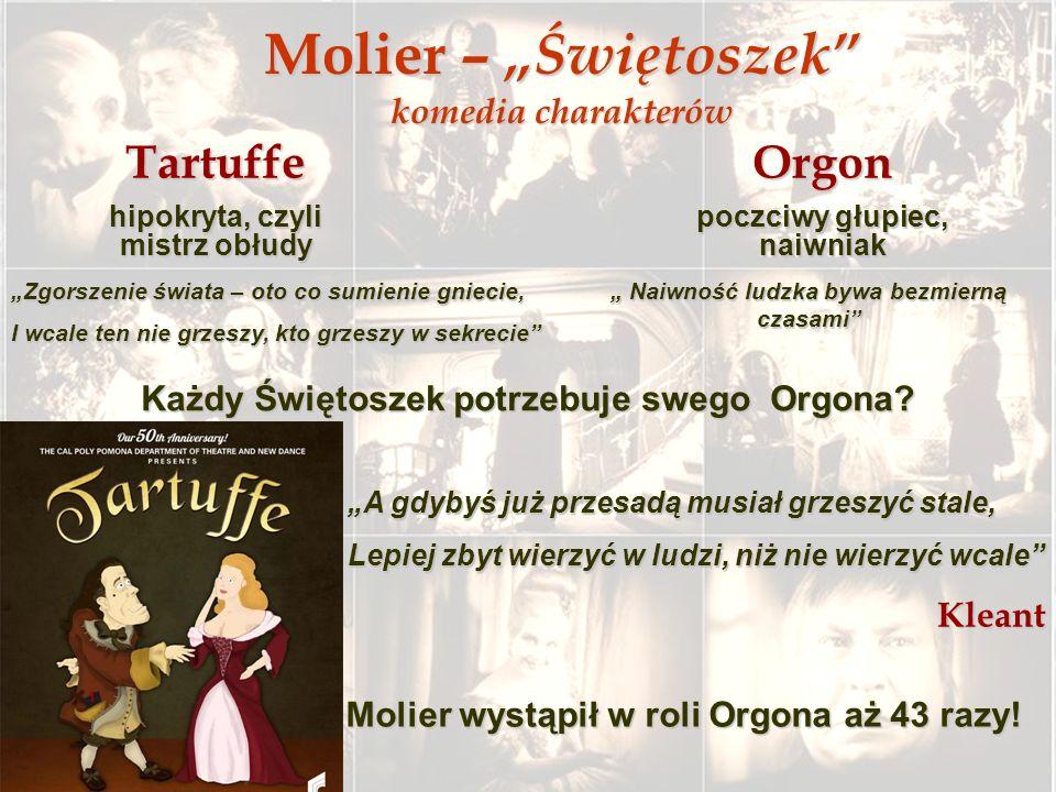 """Molier – """"Świętoszek komedia charakterów"""