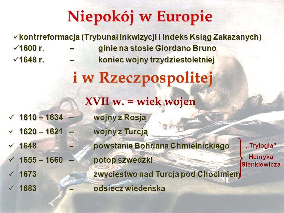Niepokój w Europie i w Rzeczpospolitej