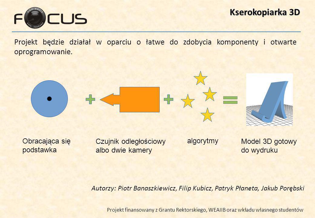 Kserokopiarka 3D Projekt będzie działał w oparciu o łatwe do zdobycia komponenty i otwarte oprogramowanie.