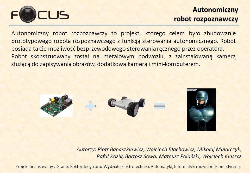 Autonomiczny robot rozpoznawczy