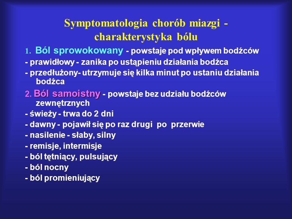Symptomatologia chorób miazgi - charakterystyka bólu