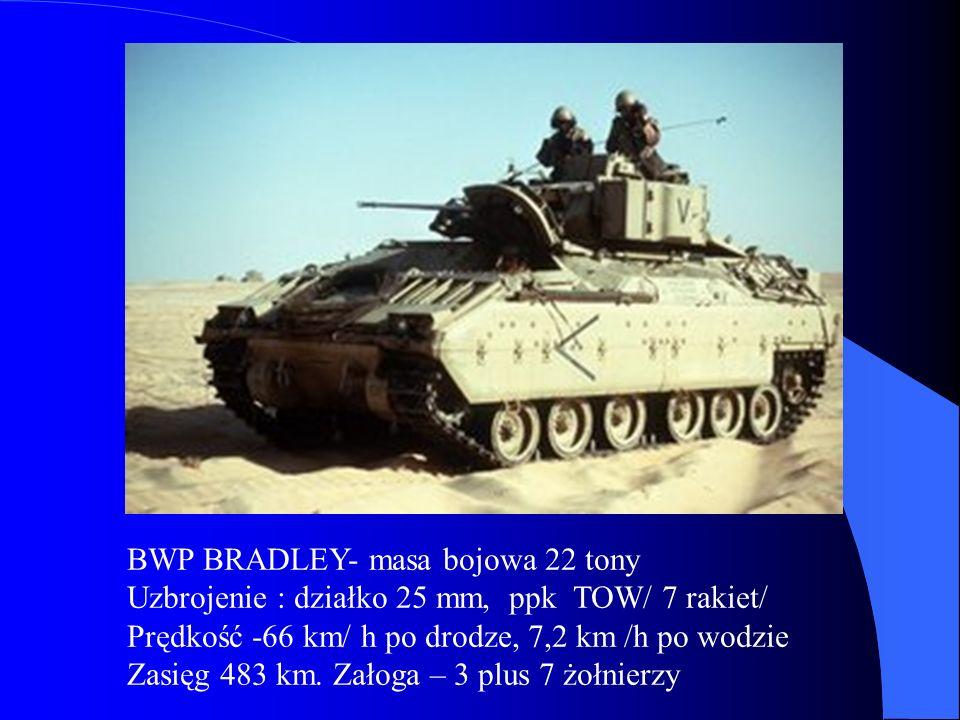 BWP BRADLEY- masa bojowa 22 tony