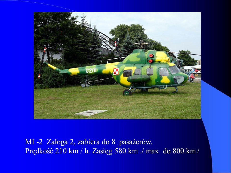 MI -2 Załoga 2, zabiera do 8 pasażerów.