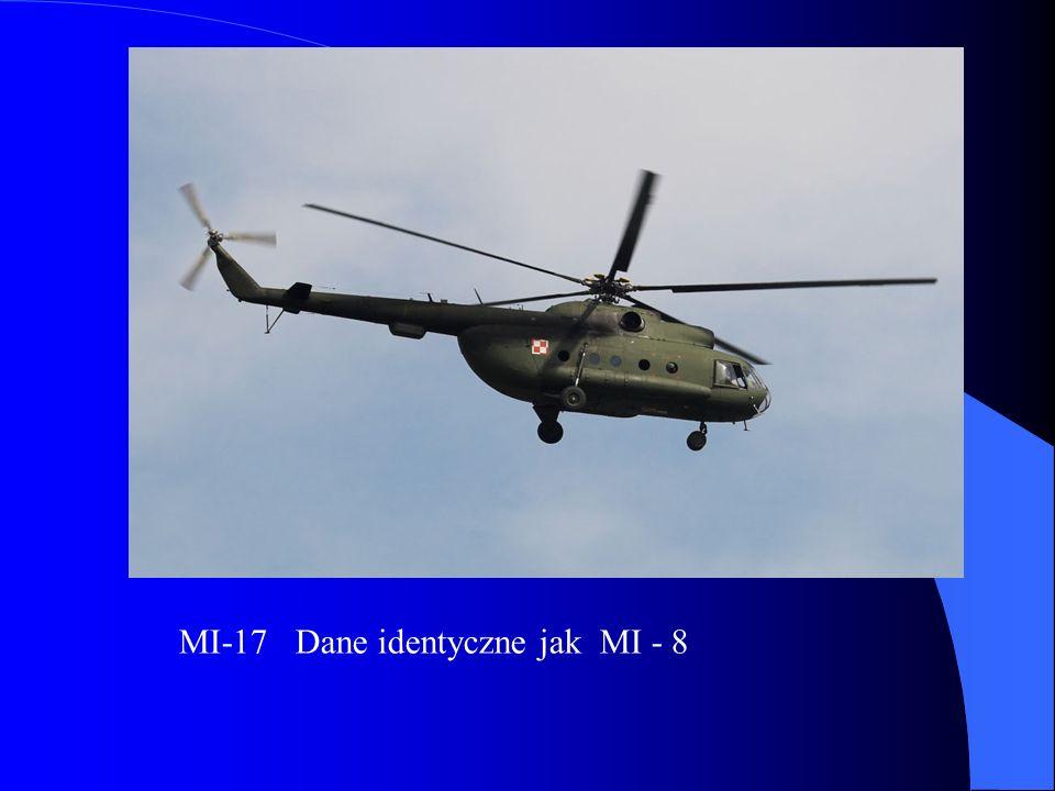 MI-17 Dane identyczne jak MI - 8