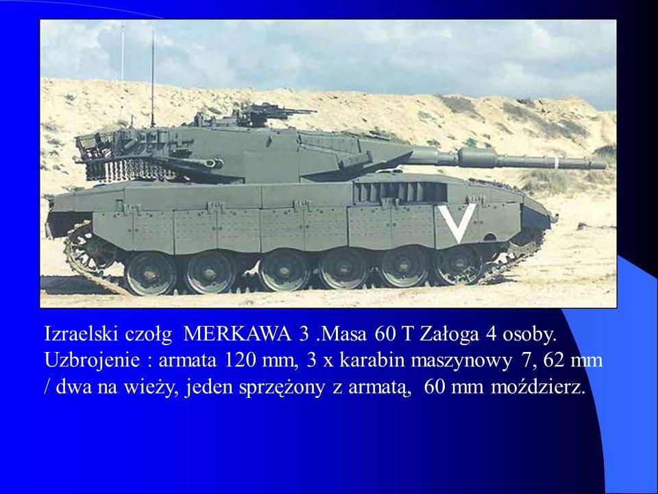 Izraelski czołg MERKAWA 3 .Masa 60 T Załoga 4 osoby.