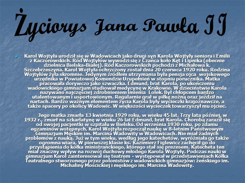 Życiorys Jana Pawła II