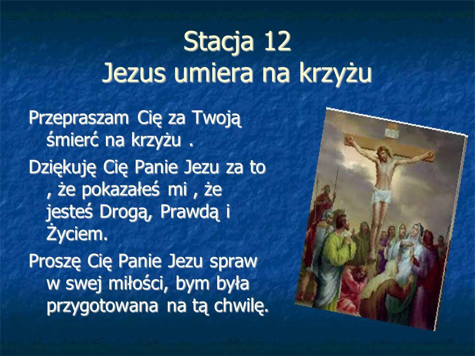 Stacja 12 Jezus umiera na krzyżu