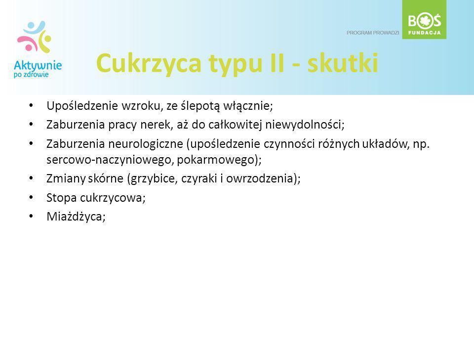 Cukrzyca typu II - skutki