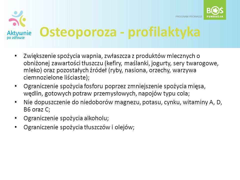 Osteoporoza - profilaktyka