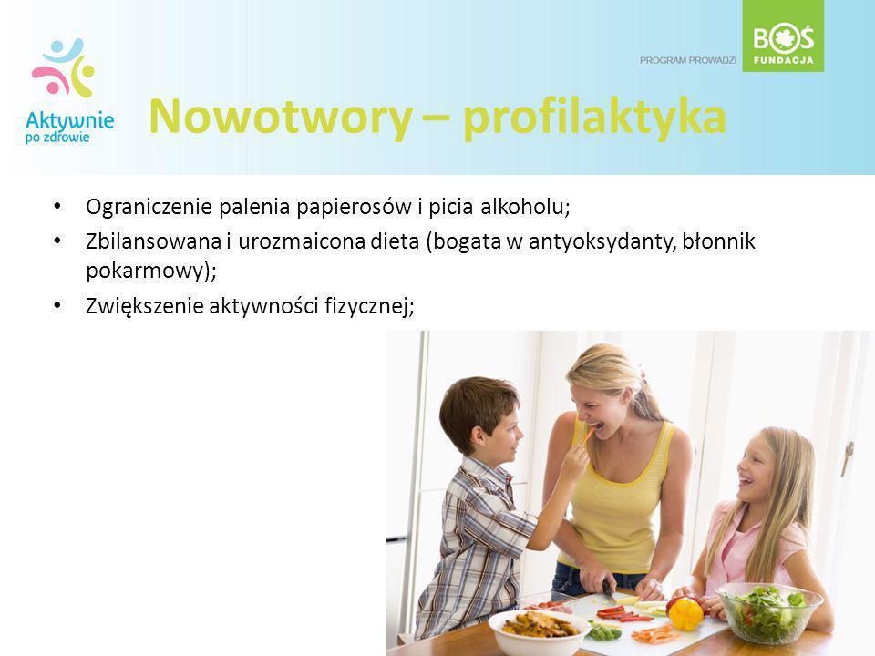 Nowotwory – profilaktyka