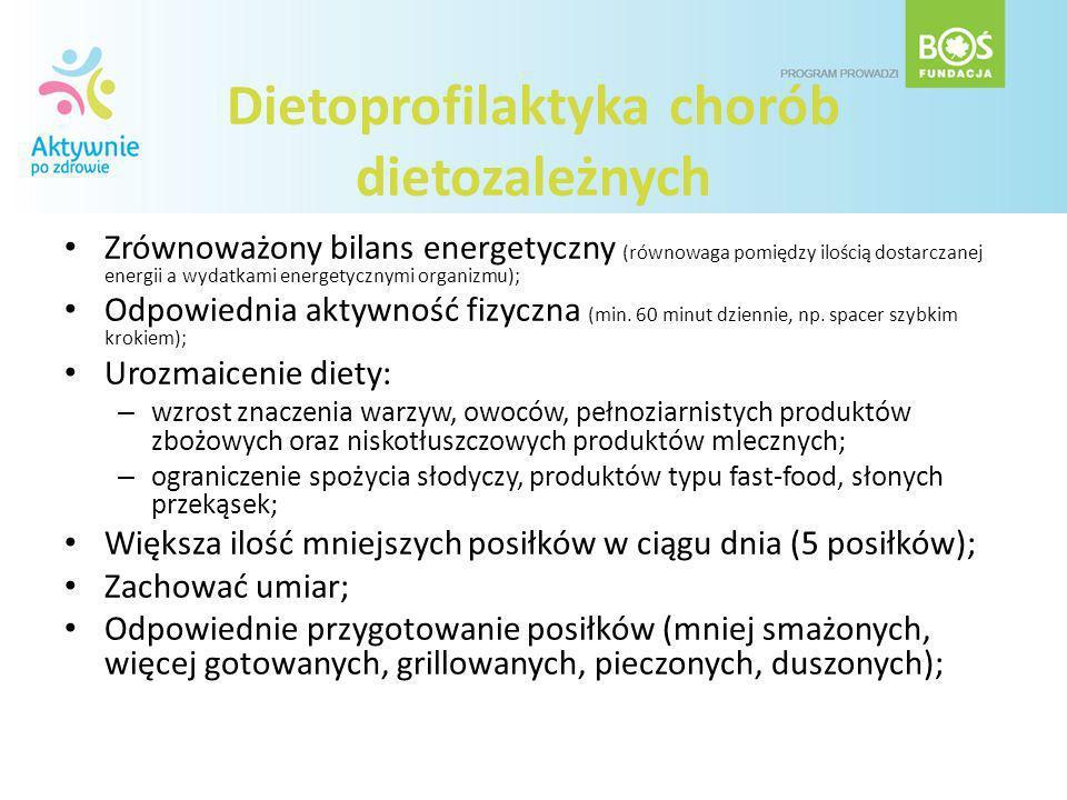 Dietoprofilaktyka chorób dietozależnych