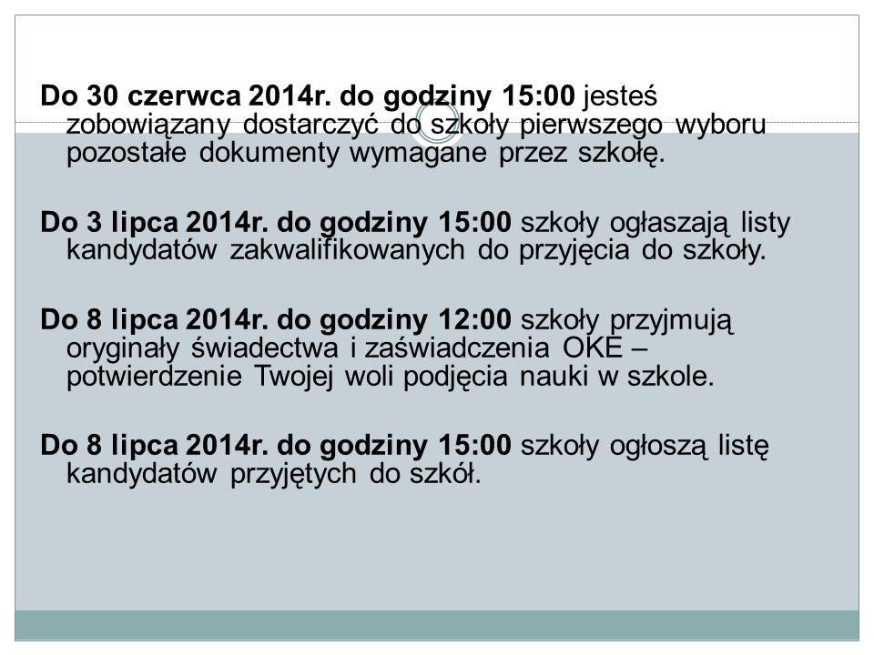 Do 30 czerwca 2014r.