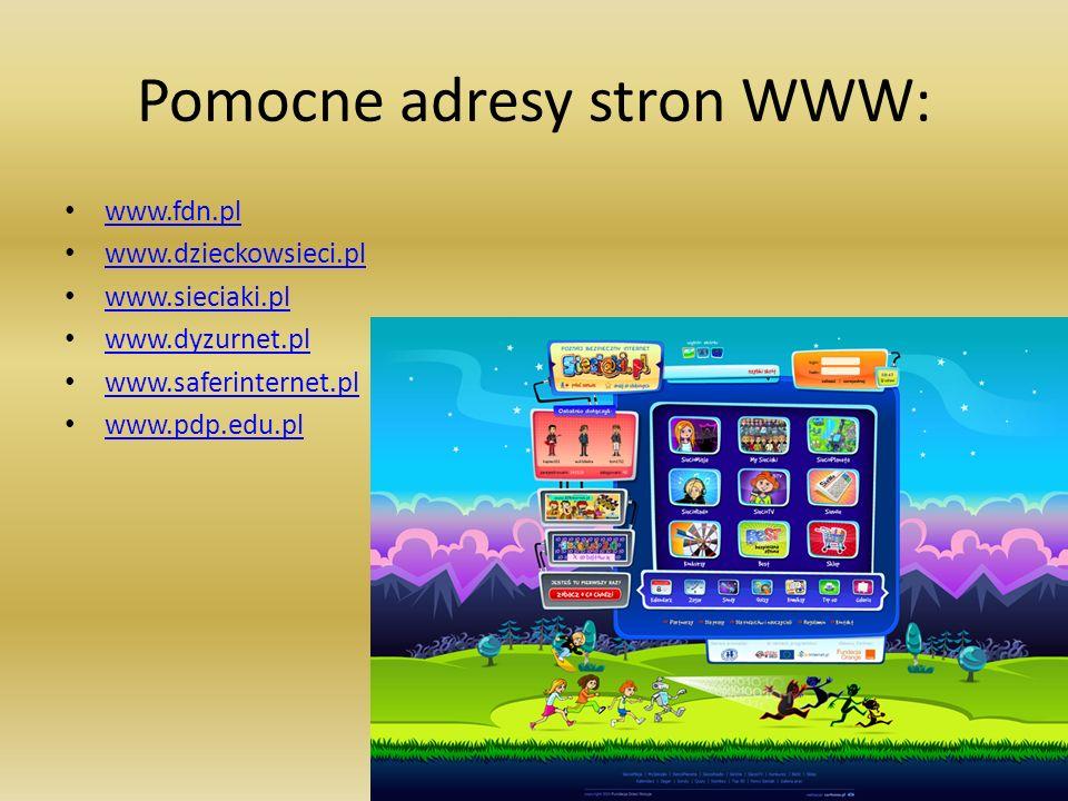 Pomocne adresy stron WWW:
