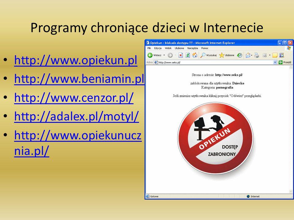Programy chroniące dzieci w Internecie