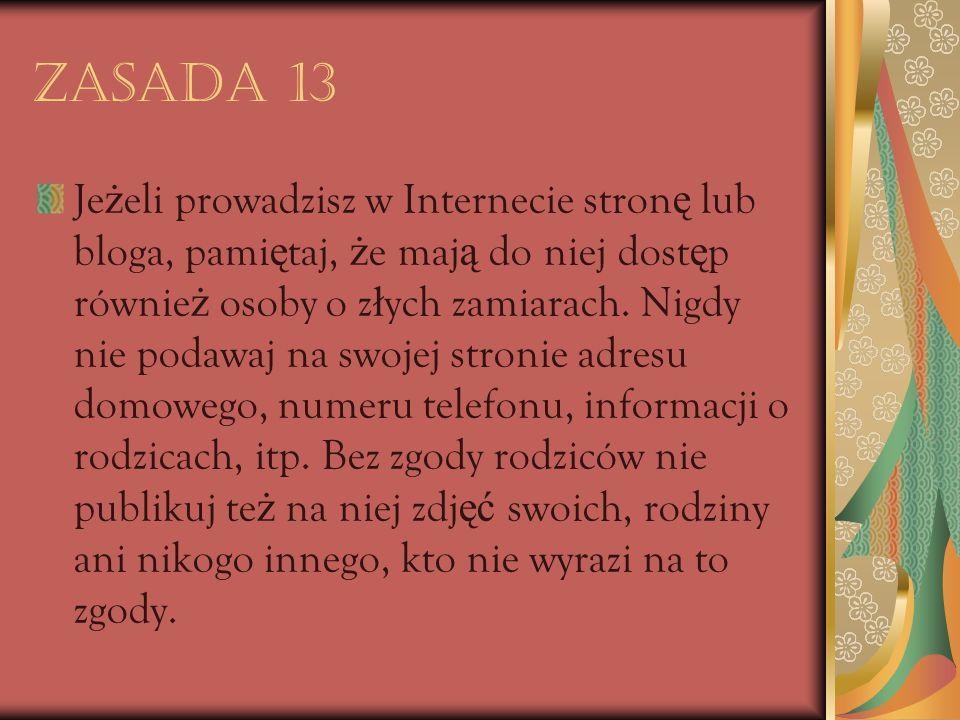 Zasada 13
