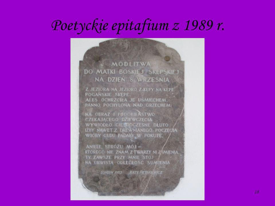 Poetyckie epitafium z 1989 r.