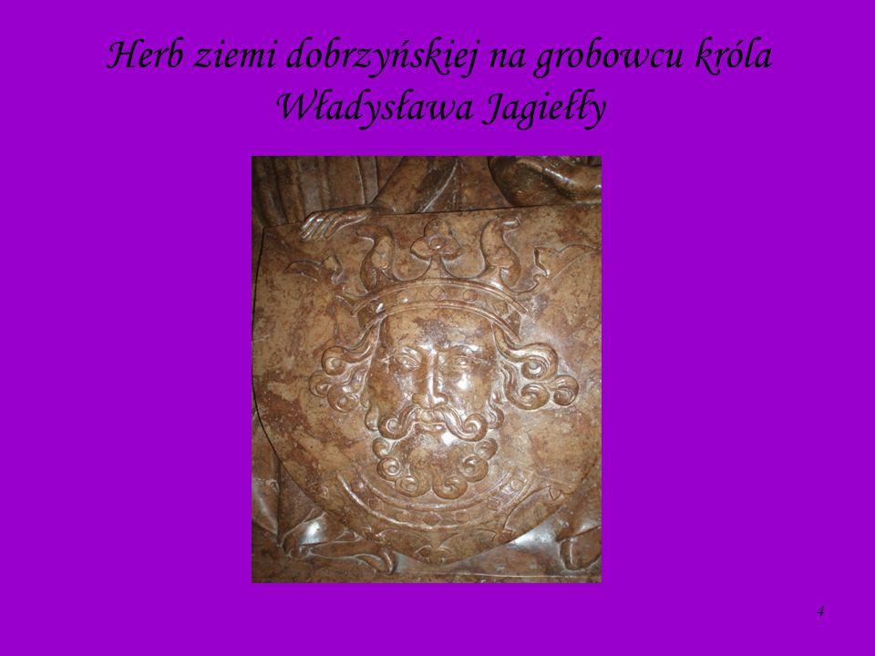 Herb ziemi dobrzyńskiej na grobowcu króla Władysława Jagiełły