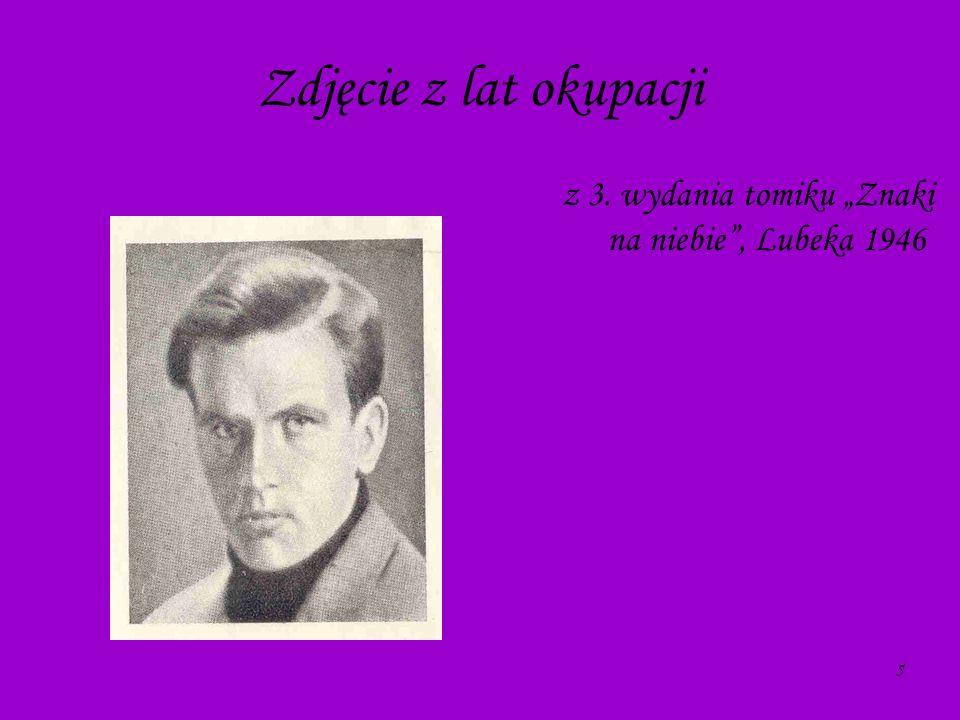 """z 3. wydania tomiku """"Znaki na niebie , Lubeka 1946"""