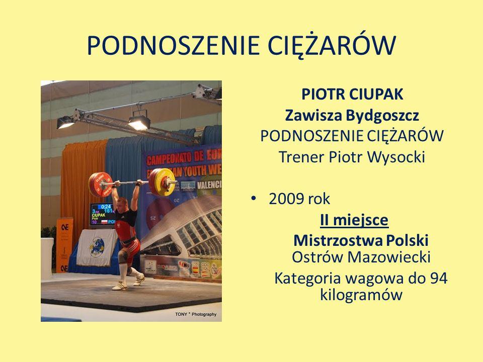PODNOSZENIE CIĘŻARÓW PIOTR CIUPAK Zawisza Bydgoszcz