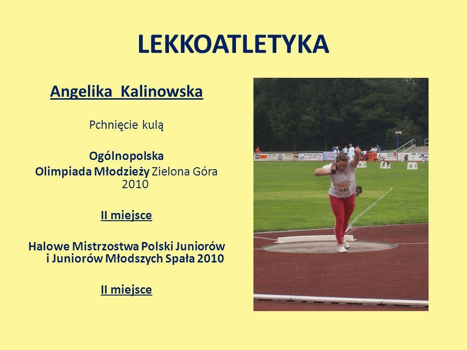 LEKKOATLETYKA Angelika Kalinowska Pchnięcie kulą Ogólnopolska