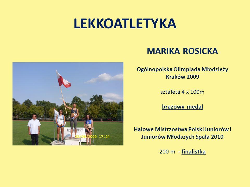 LEKKOATLETYKA MARIKA ROSICKA