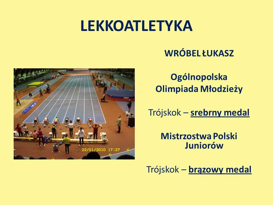 LEKKOATLETYKA WRÓBEL ŁUKASZ Ogólnopolska Olimpiada Młodzieży