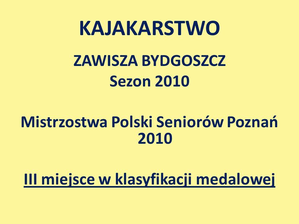 KAJAKARSTWO ZAWISZA BYDGOSZCZ Sezon 2010