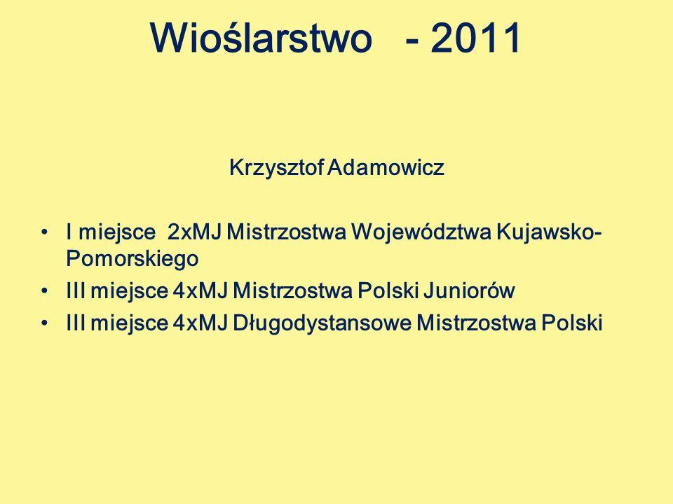 Wioślarstwo - 2011 Krzysztof Adamowicz