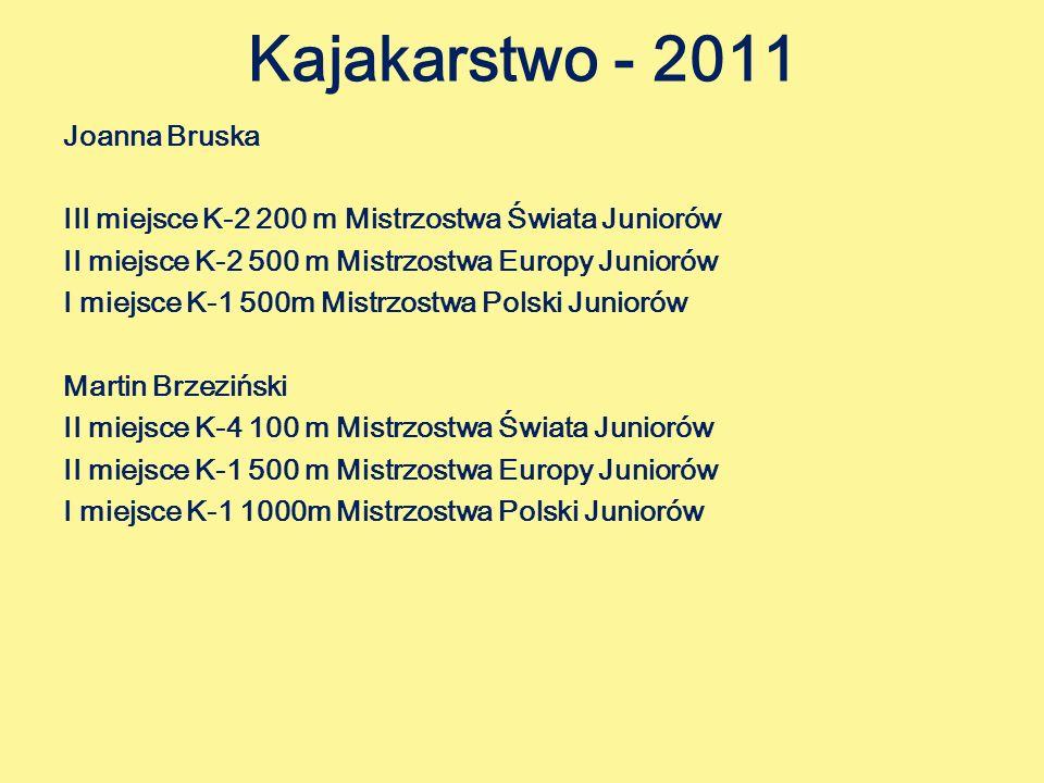 Kajakarstwo - 2011 Joanna Bruska
