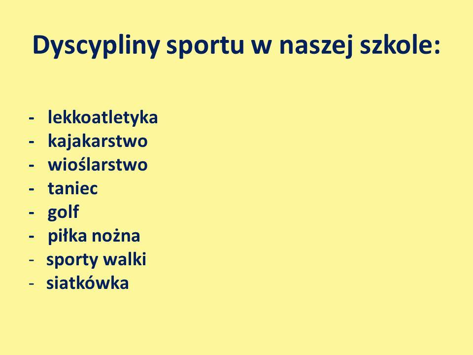 Dyscypliny sportu w naszej szkole: