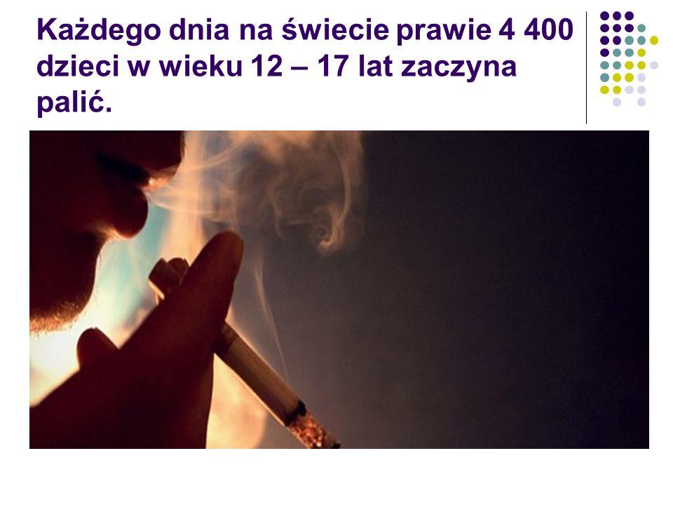 Każdego dnia na świecie prawie 4 400 dzieci w wieku 12 – 17 lat zaczyna palić.