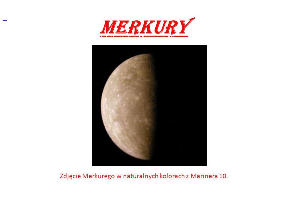 Zdjęcie Merkurego w naturalnych kolorach z Marinera 10.