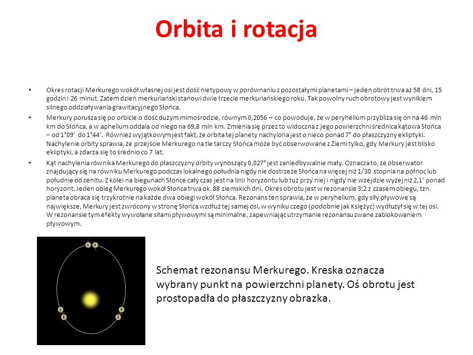 Orbita i rotacja