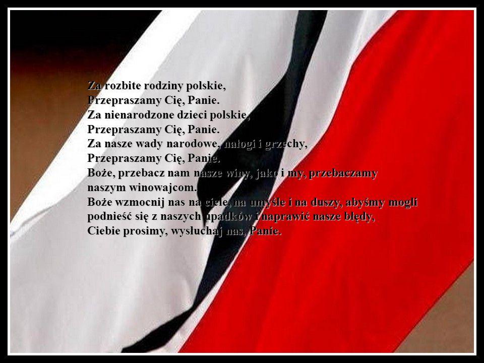 Za rozbite rodziny polskie,