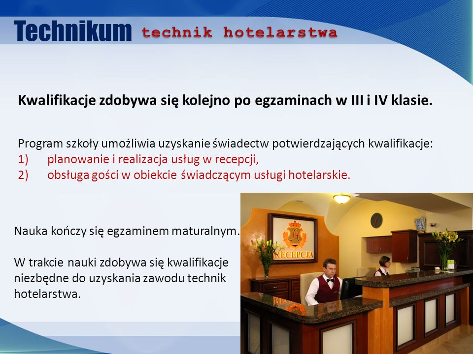Technikum technik hotelarstwa