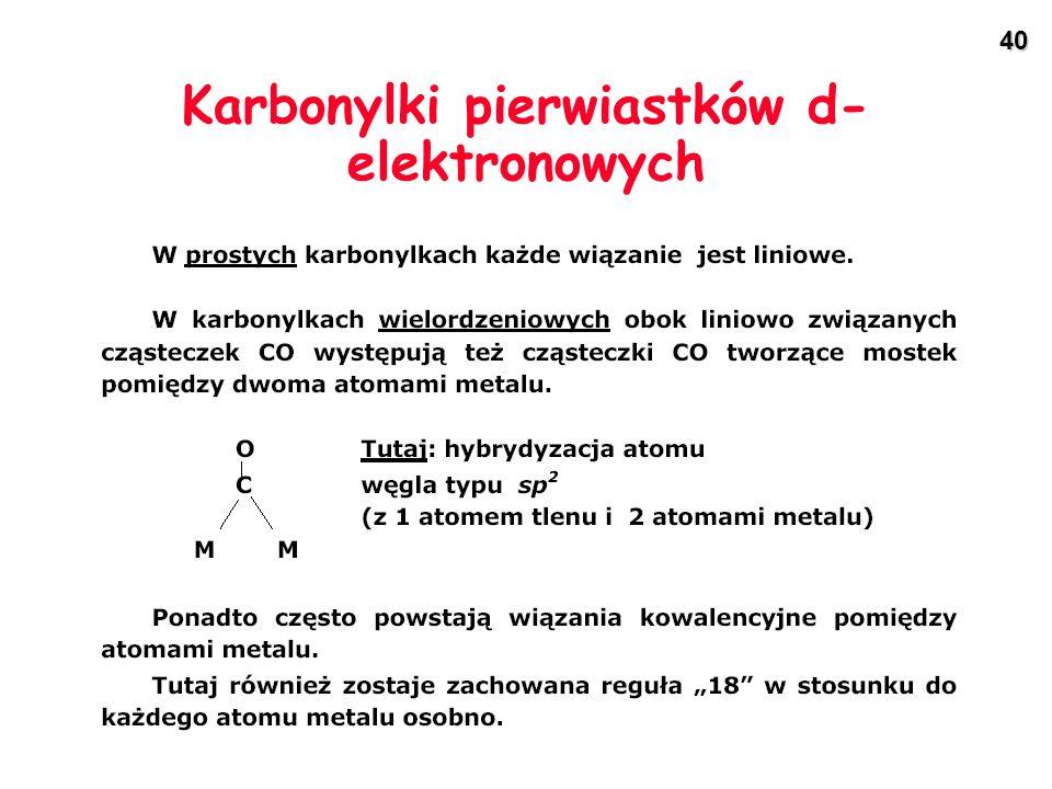 Karbonylki pierwiastków d-elektronowych