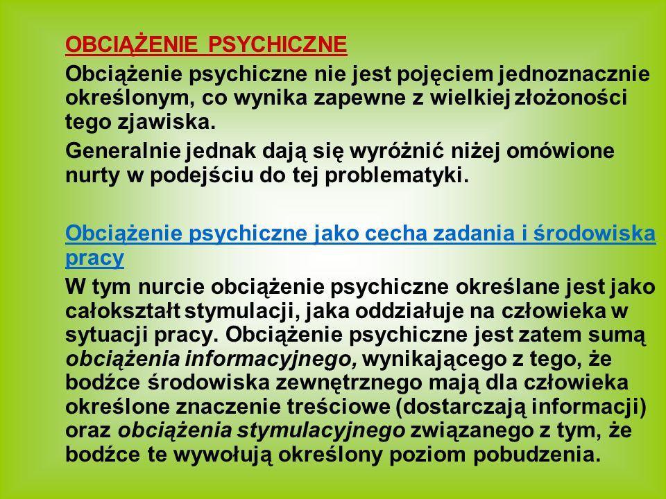 OBCIĄŻENIE PSYCHICZNE