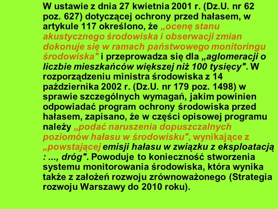 W ustawie z dnia 27 kwietnia 2001 r. (Dz. U. nr 62 poz