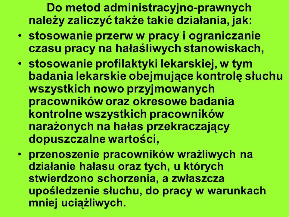 Do metod administracyjno-prawnych należy zaliczyć także takie działania, jak: